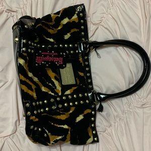 animal print betsey johnson purse